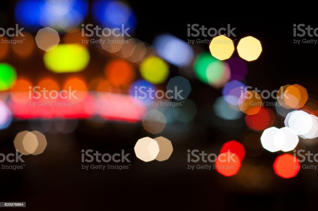 Zaburzenia światła. Nocy w mieście. zbiór zdjęć royalty-free