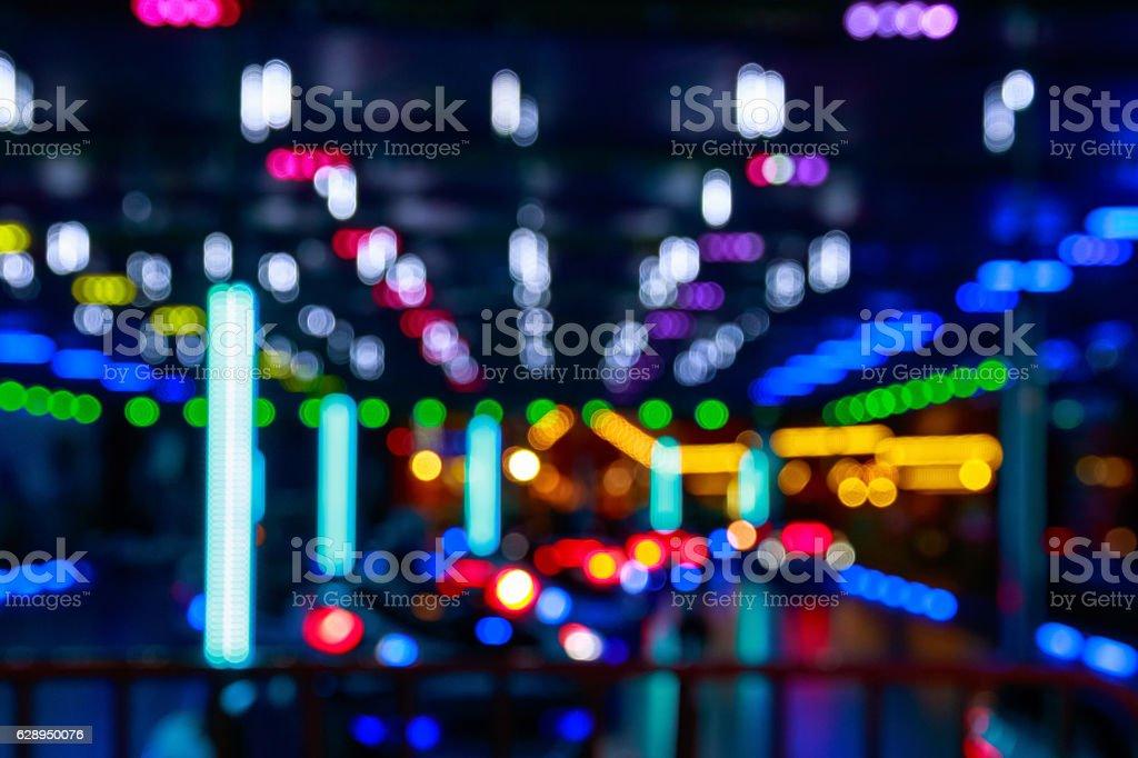 Blurred Lights Of A Funfair - foto de acervo