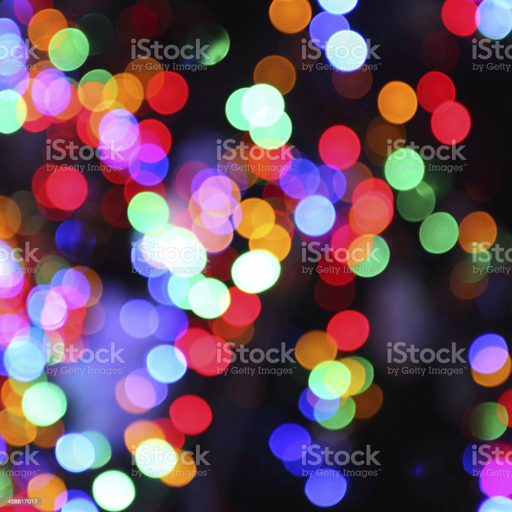 blurred lights of christmas tree stock photo