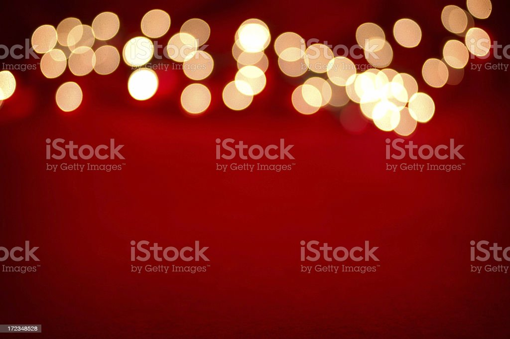 Blurred Lights on Red royalty-free stock photo