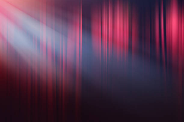 blurred lights on stage, drama theatre show background - curtain stock photos and pictures