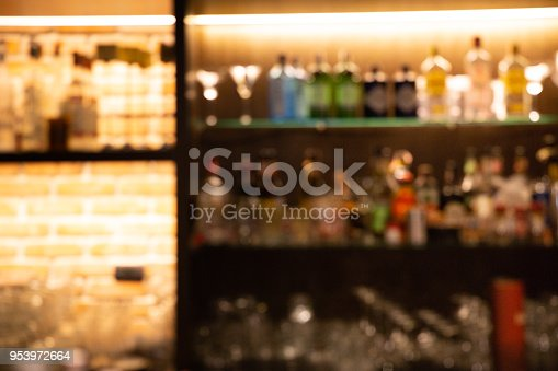 1013514594 istock photo blurred liquor bar in Vintage photo filter style. 953972664
