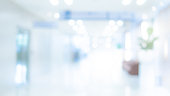 istock Blurred luxury hospital interior background 1218502854