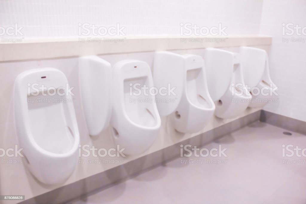 Blurred male toilet stock photo