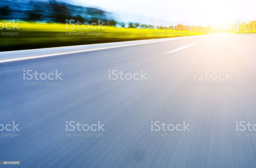 Blurred Motion Road stock photo
