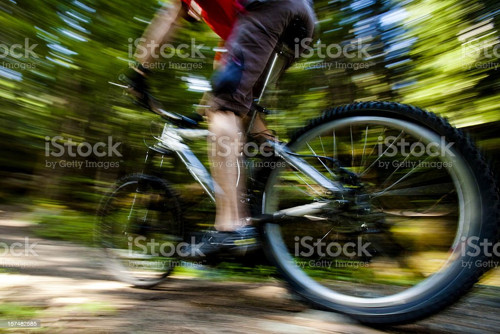 Blurred motion shot of biker. royalty-free stock photo