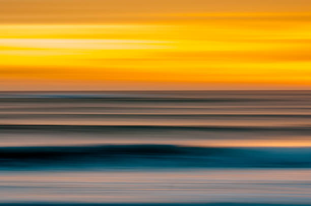 Blurred Motion Sunset stock photo