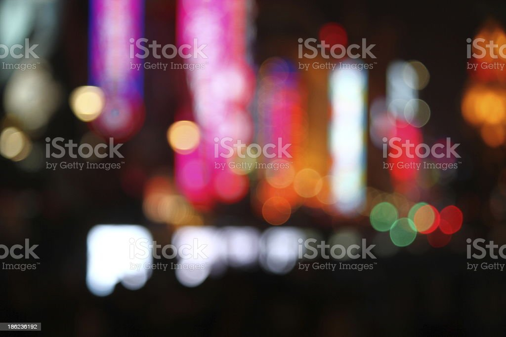 Blurred Neon Lights royalty-free stock photo