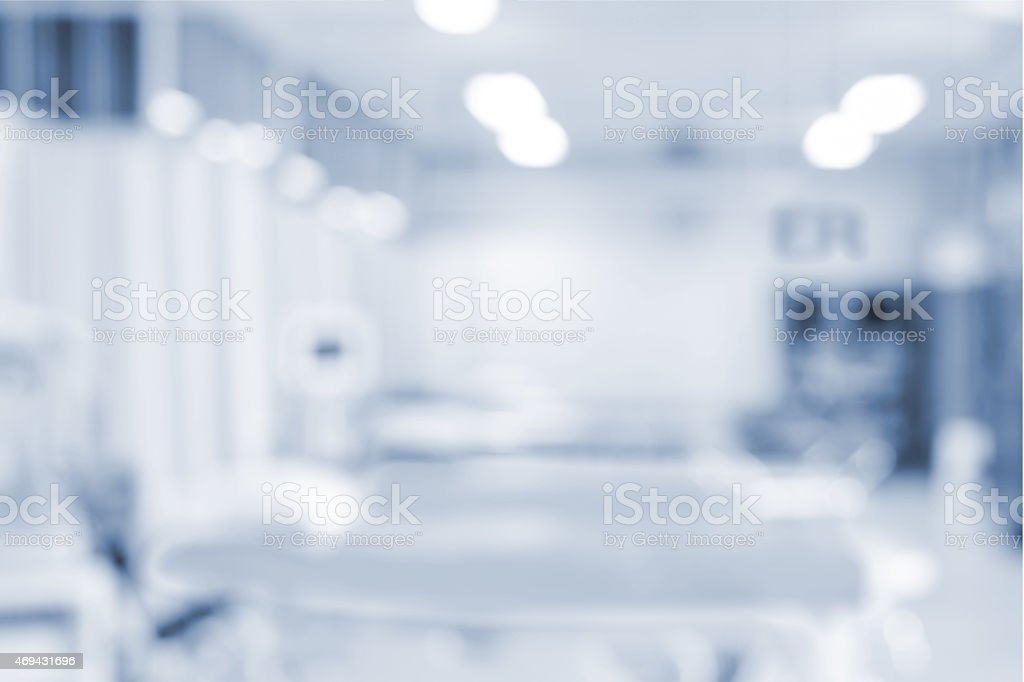 Blurred of emergency hospital room stock photo