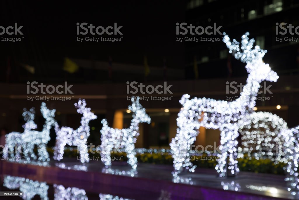 Blurred of Reindeer lighting with water Reflections royalty-free stock photo