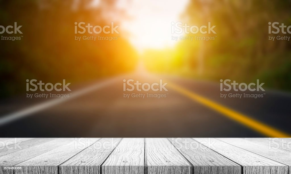 Blurred of road to the nature at sunset time royalty-free stock photo