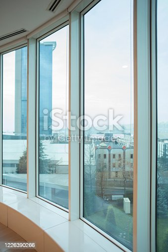 1019217082 istock photo Blurred Office and Hallway Background 1226390266