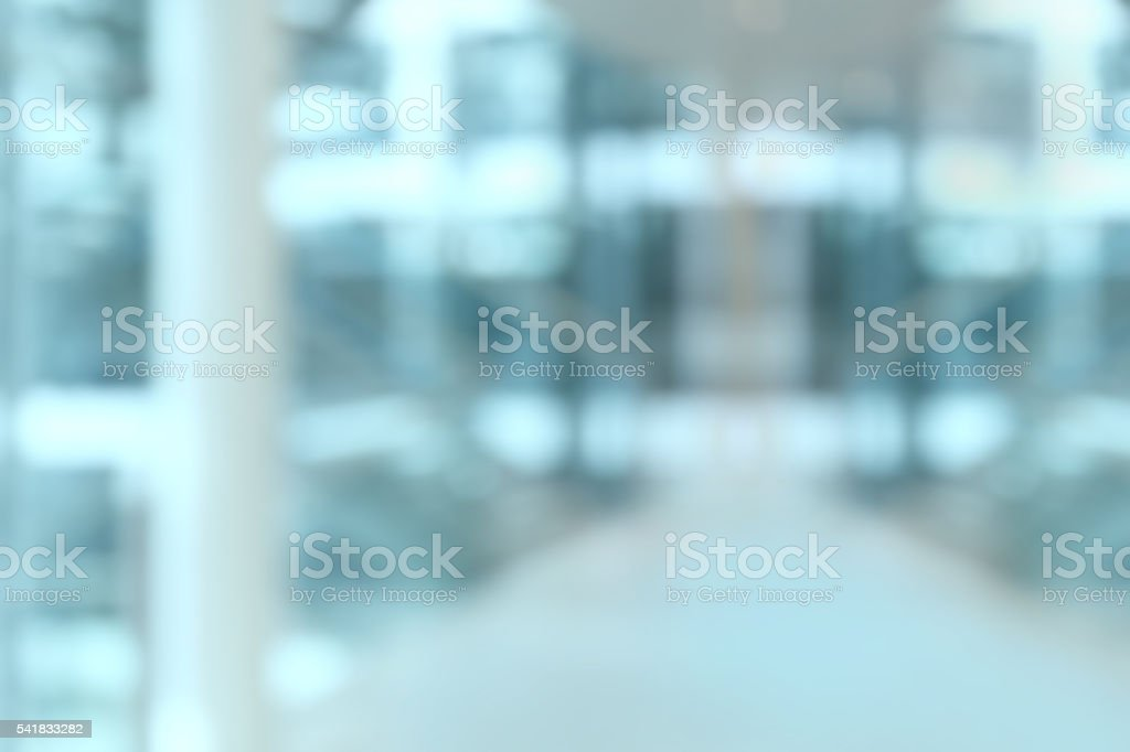 Blurred office background with glass windows stock photo