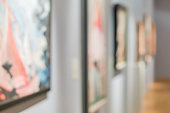 istock blurred paintings on the wall 936902194
