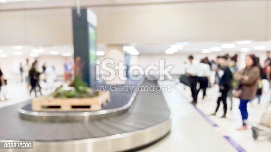 istock Blurred passengers and Conveyer belt 838815000