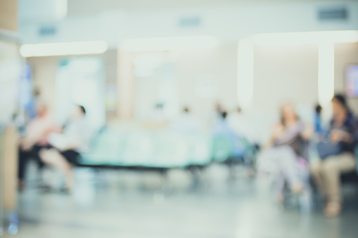 istock Blurred patient waiting for see doctor,abstract background 488580456