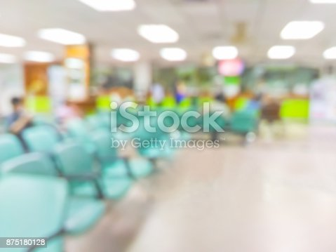 istock Blurred patients waiting in hospital 875180128