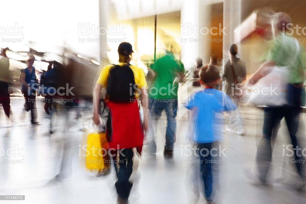 Blurred Pedestrians royalty-free stock photo