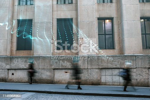 istock Blurred people with facial recognition 1145968964