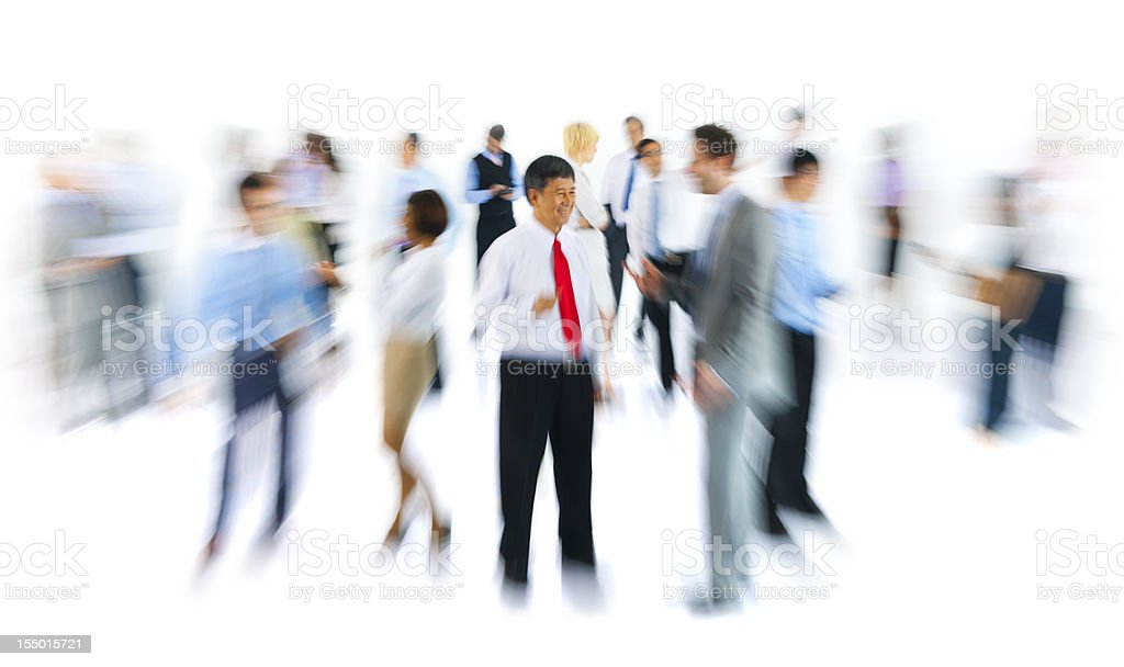 Blurred photo of business people royalty-free stock photo