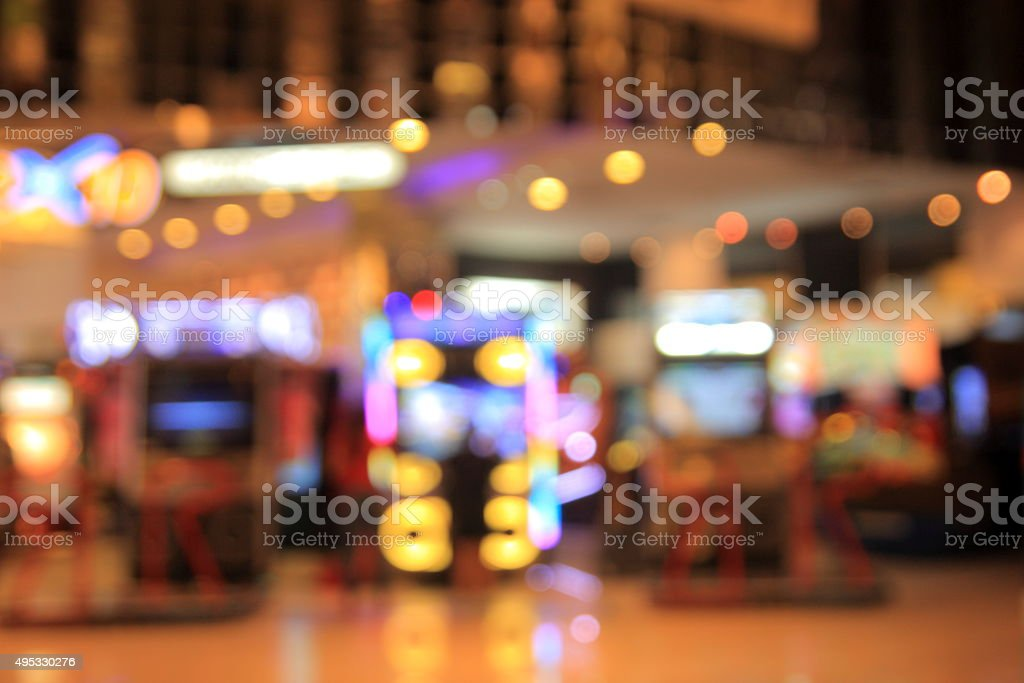 blurred photo of department store shopping mall center and peopl stock photo