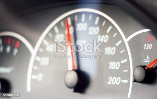 istock Blurred photo of the speedometer 655532596