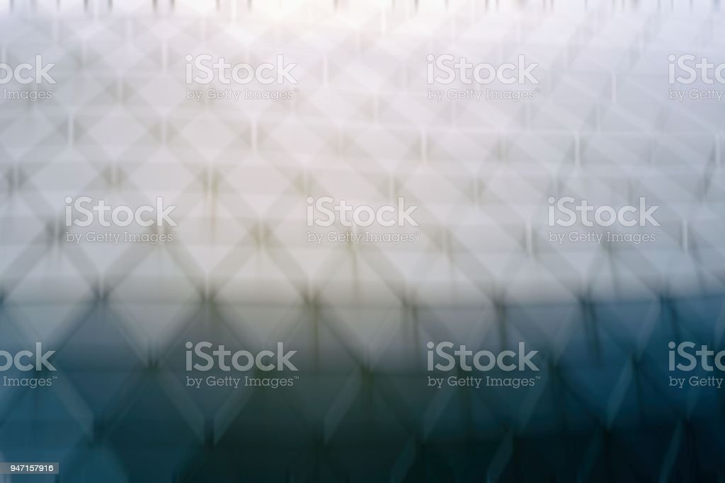 Blurred  Polygon Architecture with Light Leak. stock photo