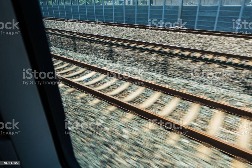verschwommen Schienen Lizenzfreies stock-foto