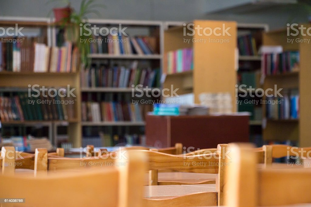 Blurred Reading room stock photo