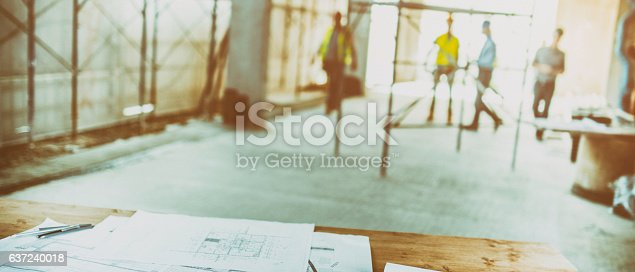 istock Blurred reconstruction site 637240018