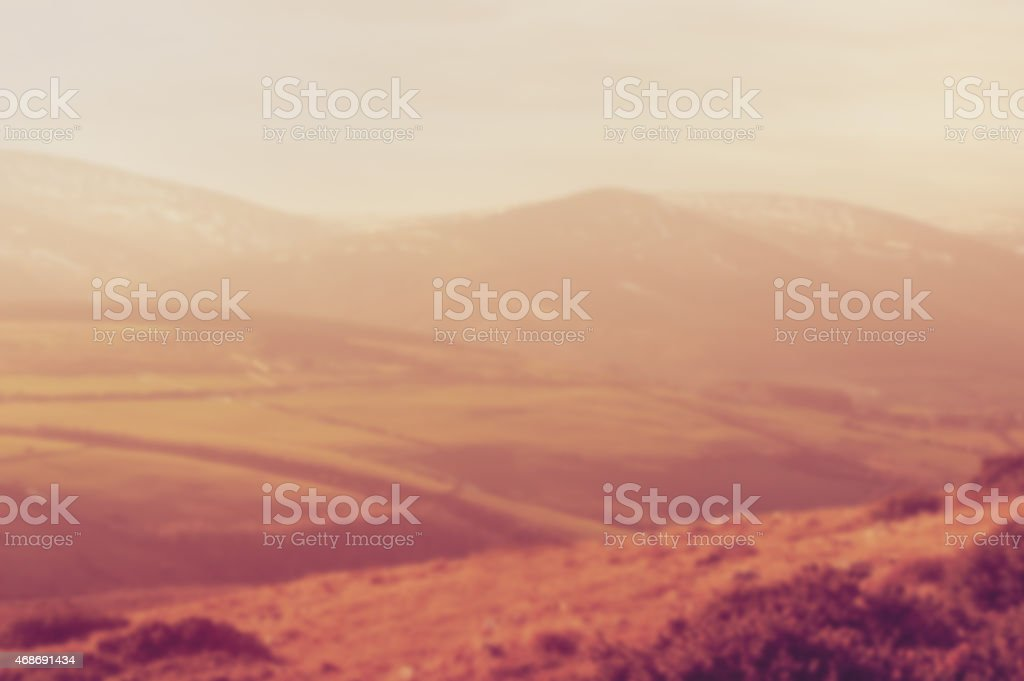 blurred rolling hills stock photo