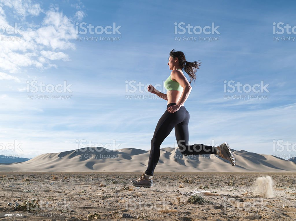 Blurred Runner stock photo