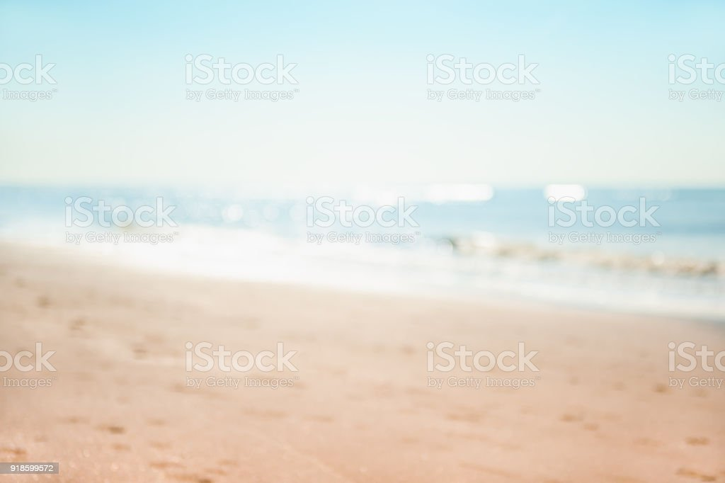 Blurred sea background stock photo