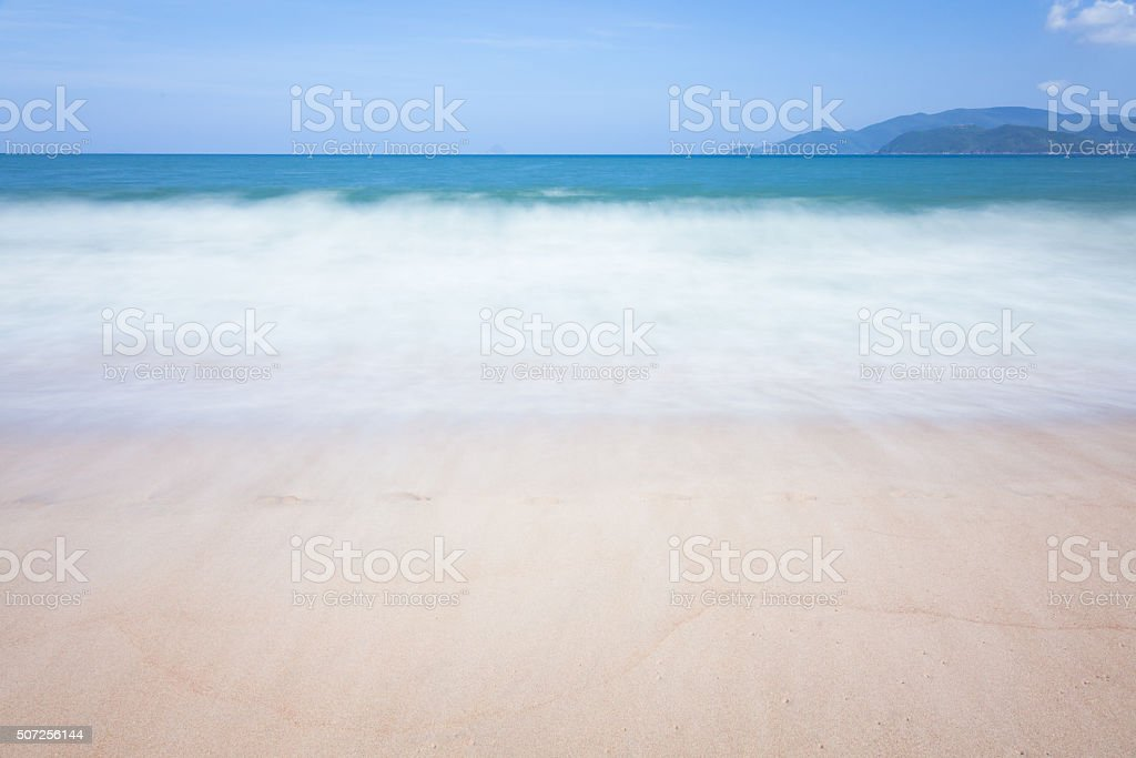 Blurred sea waves motion royalty-free stock photo