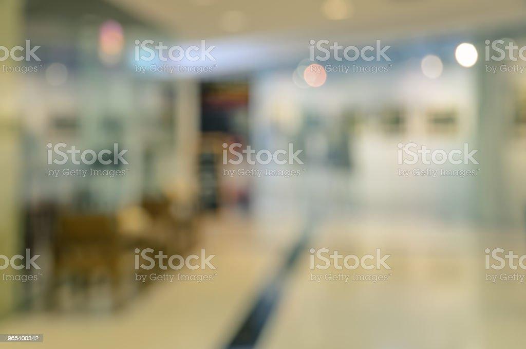 Centre commercial en arrière-plan flou - Photo de Abstrait libre de droits