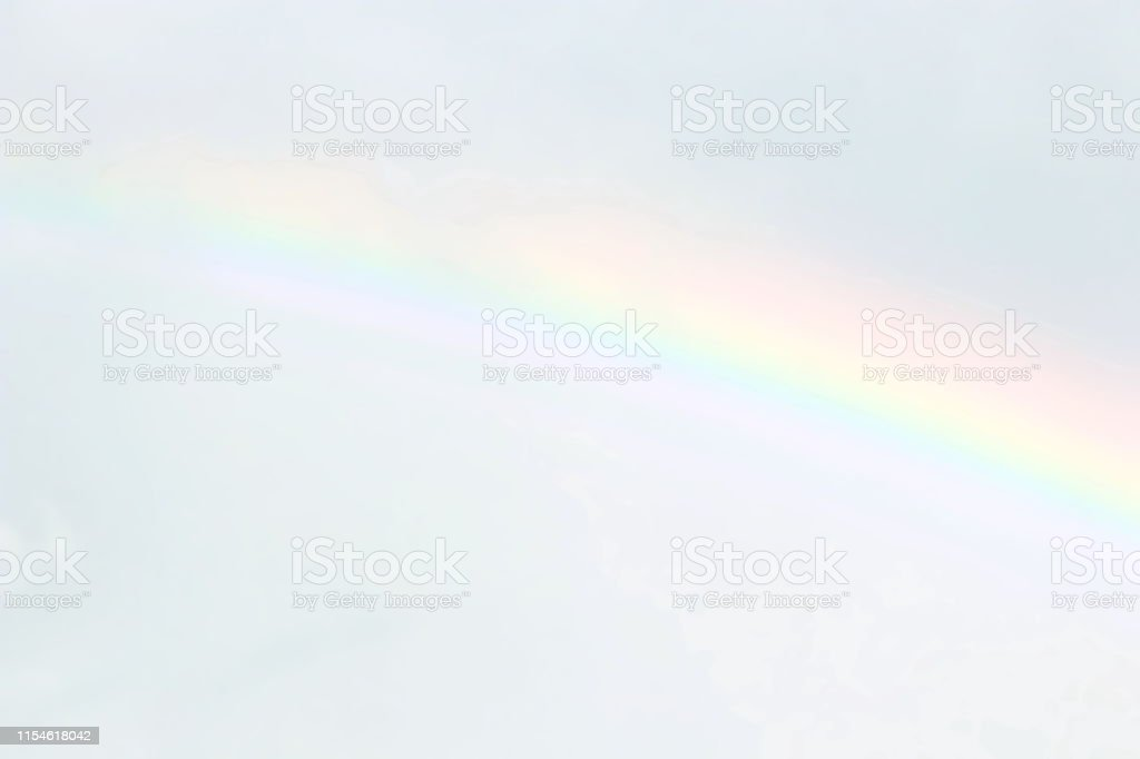 blurred sky and rainbow soft blurred soft rainbow on sky pastel color picture id1154618042