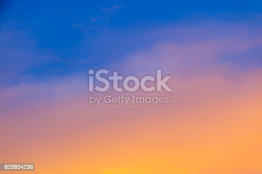 istock Blurred Sky During Sunset - Gradient Background 625854236