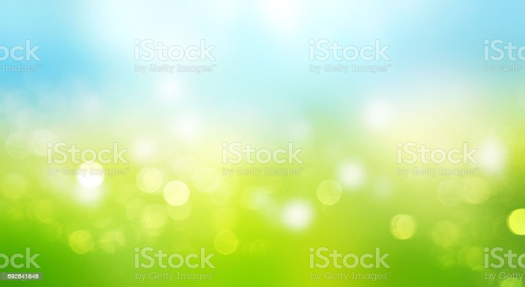Blurred sky grass horizontal background. stock photo