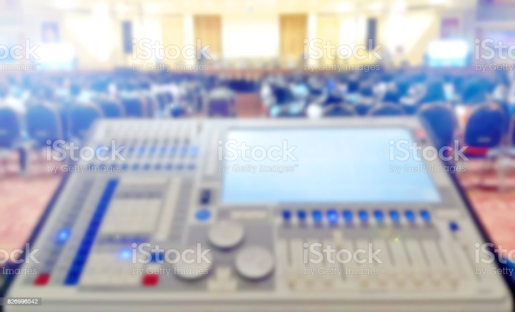 Blurred Sound Audio Mixing Control Concert Blur Background Stock