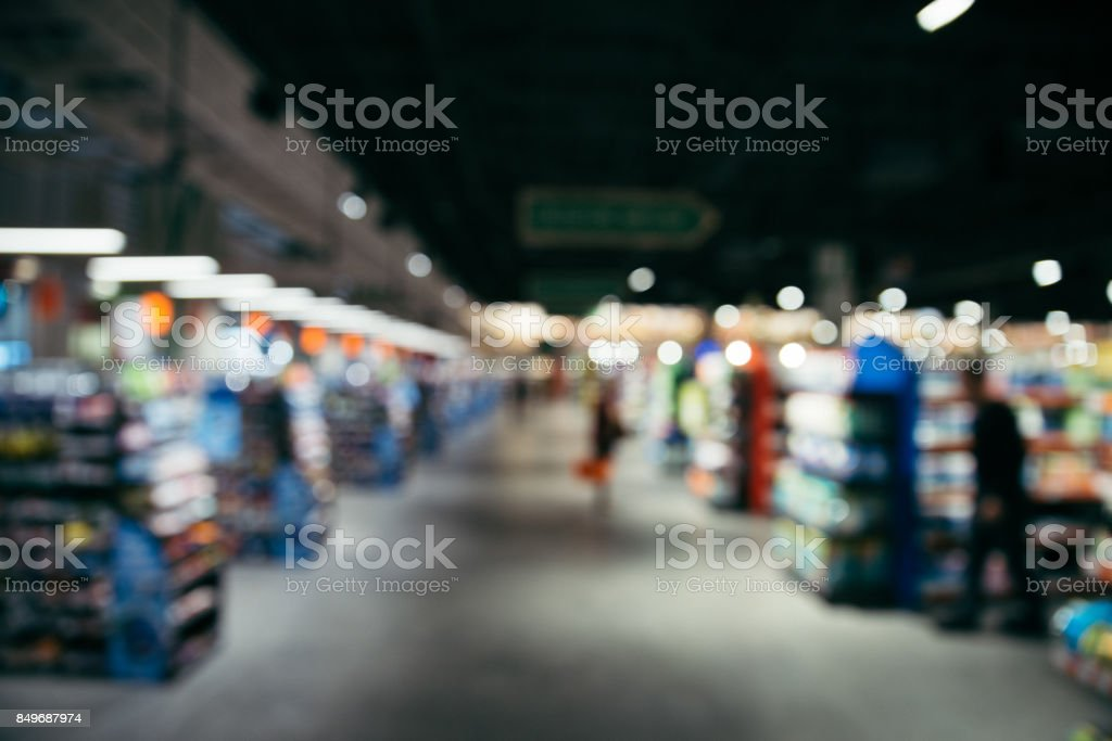 blurred store inside design concept stock photo