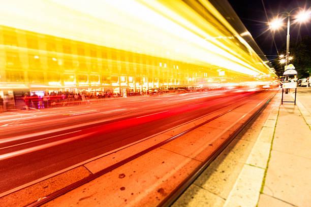Verschwommene streetcar Beschleunigung – Foto
