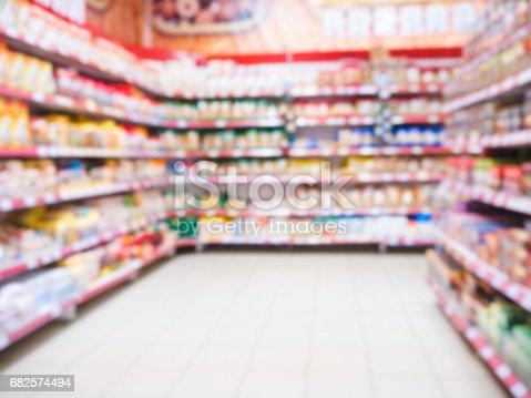 968898244 istock photo blurred supermarket aisle 682574494
