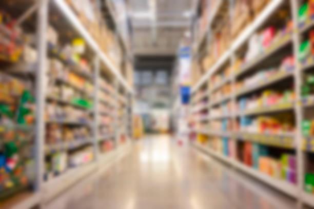 Verschwommener Supermarkt – Foto