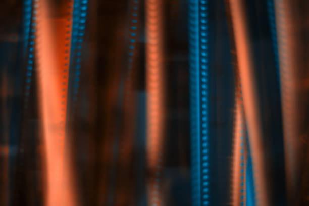 verschwommene texturen hintergrund - analoge filmstreifen. - oscar filme stock-fotos und bilder