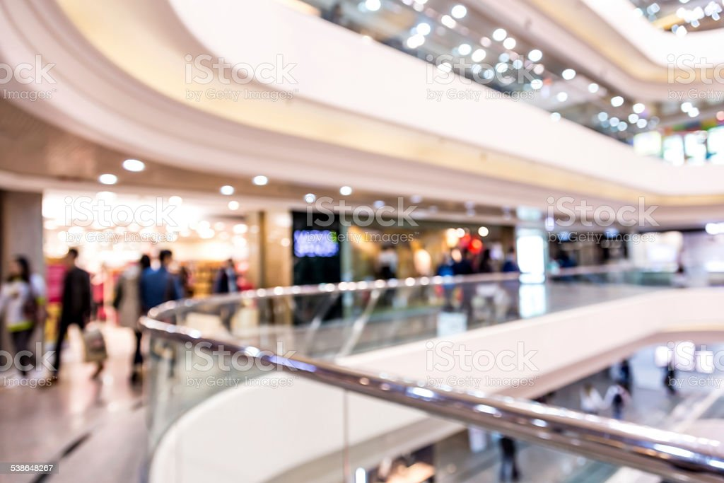 Blurred the Shopping Mall background stock photo