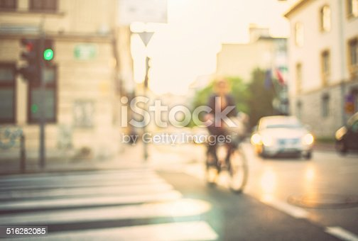 istock Blurred traffic in town 516282085