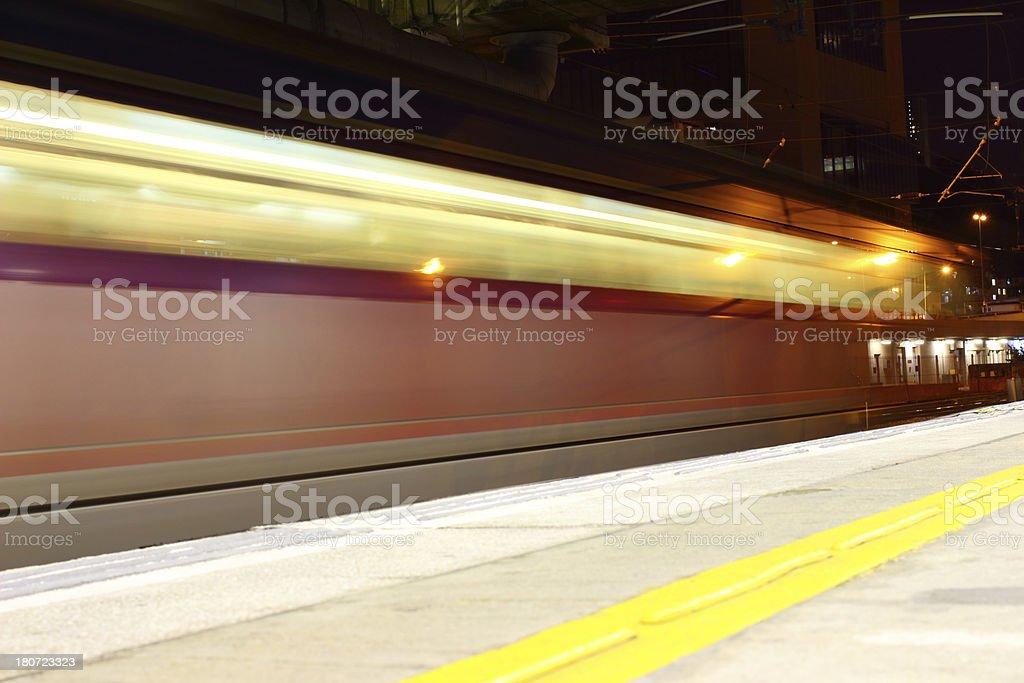 Blurred train royalty-free stock photo