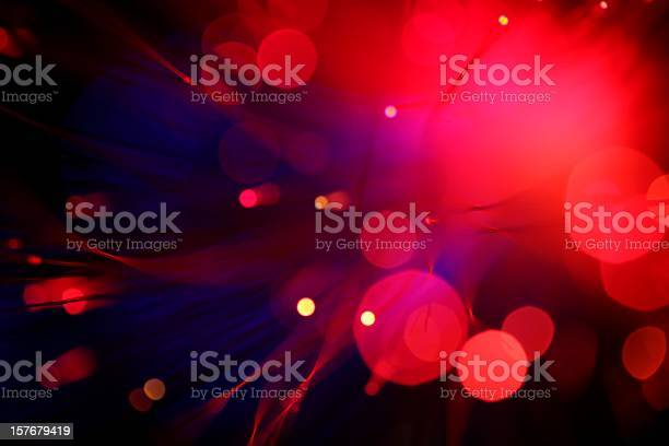 Blurred View Of Red Lights Small And Large Stock Photo - Download Image Now