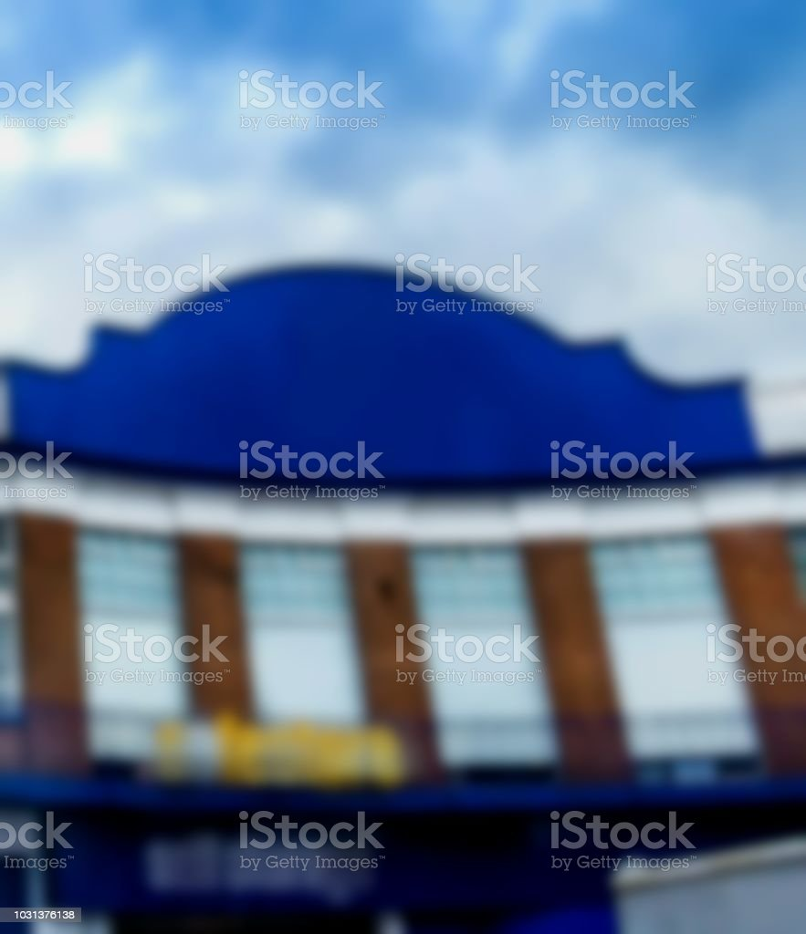 Blurred view of safestore self storage buisiness house . London stock photo