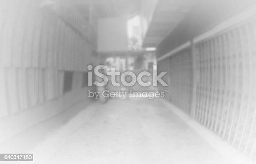 istock Blurred walkway of home 640347180
